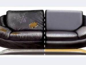 Перетяжка кожаного дивана в Калуге