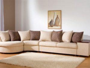 Перетяжка углового дивана на дому в Калуге